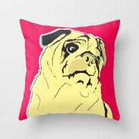 Shmoo The Pug Throw Pillow