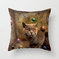 Diesel in Ballparadies Throw Pillow