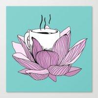 Lotus Coffee Canvas Print