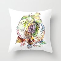 Hedgehog Effect Throw Pillow