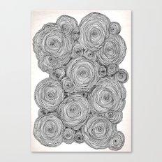Bear Squiggles Canvas Print