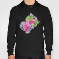 Dual Bouquets - a watercolor floral Hoody