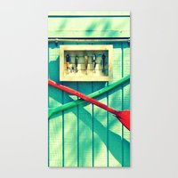 Boat Oars Panel 2 (3 pieces to make full photograph) Canvas Print