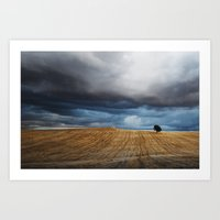 Lonely tree waiting for the storm Art Print