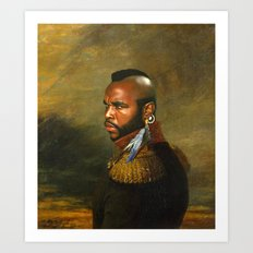 Mr. T - replaceface Art Print