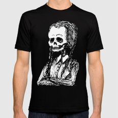 Wednesday Skull Black SMALL Mens Fitted Tee