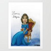 Leonie, l'envieuse Art Print