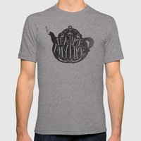 TEA TIME. ANY TIME. Mens Fitted Tee Athletic Grey SMALL