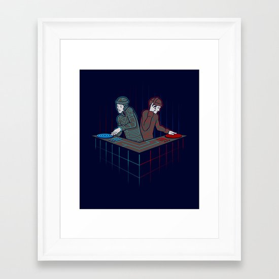 Techno-Tron-ic Framed Art Print