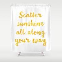 scatter sunshine Shower Curtain