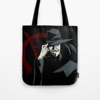 V for Vendetta (e1) Tote Bag