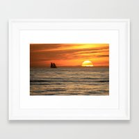 Sunset Sail Framed Art Print