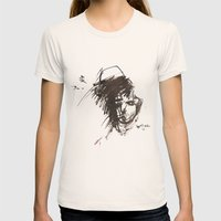 Self Portrait Womens Fitted Tee Natural SMALL