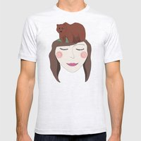 Bear in Mind Mens Fitted Tee Ash Grey SMALL
