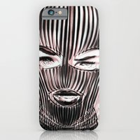 iPhone Cases featuring Badwood 3D Ski Mask by Badwood