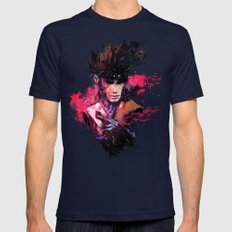 Gambit Mens Fitted Tee Navy SMALL