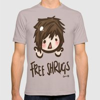 'Free Shrugs' Mens Fitted Tee Cinder SMALL