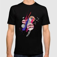 LILLY Mens Fitted Tee Black SMALL
