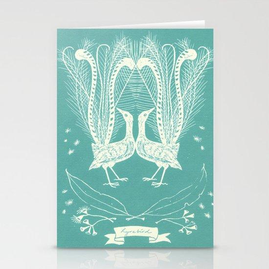 Lyrebird (eggshell blue) Stationery Card