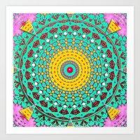 Chicks and Hens Mandala Art Print