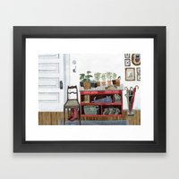 Cozy Entryway Framed Art Print