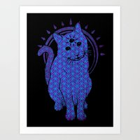 Trippy Cat: 4 Art Print