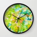 camomile and watercolors Wall Clock