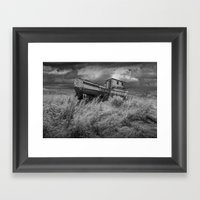 Abandoned Fishing Boat I… Framed Art Print