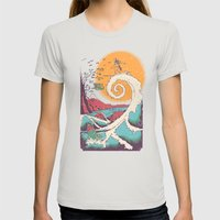 Surf Before Christmas Womens Fitted Tee Silver SMALL