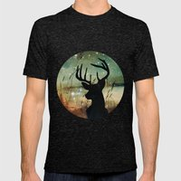 Deer 2 Mens Fitted Tee Tri-Black SMALL