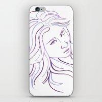Purple Portrait iPhone & iPod Skin