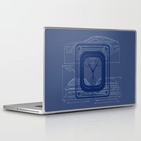 back to the future Laptop & iPad Skins featuring Back to the Future by studio VII