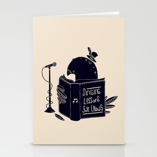 Singing Lessons For Crows Stationery Card