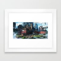 Massive City Framed Art Print
