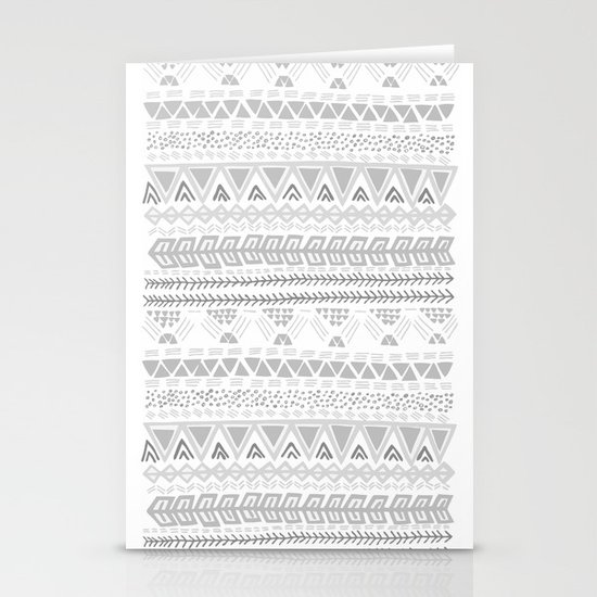 Grey aztec pattern Stationery Card