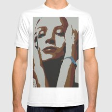 Uma White SMALL Mens Fitted Tee