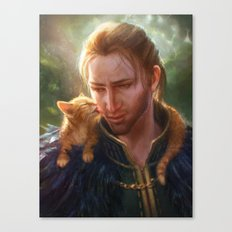 Anders And Ser Pounce-a-… Canvas Print