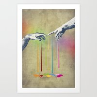 But deliver us from evil Art Print
