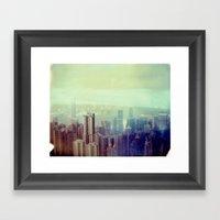 Hong Kong Polaroid Framed Art Print