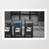 Chicago Mailboxes Art Print