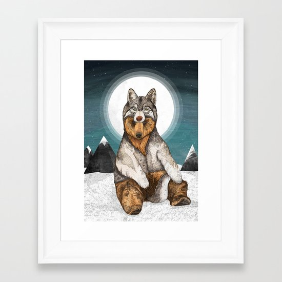 Wear Wolf Framed Art Print