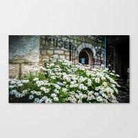 Museum & wild flowers - France Canvas Print