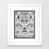 Legend of Zelda Bomb Advertisement Poster Framed Art Print