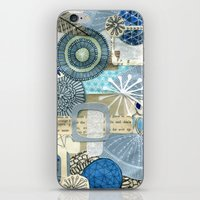 Blue Collage iPhone & iPod Skin