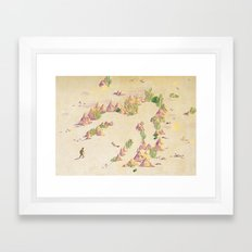 Coming back to you Framed Art Print