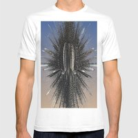 Star Burst Mens Fitted Tee White SMALL