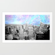 Art Print featuring New York City. by 2sweet4words Designs