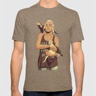 GAME OF THRONES 80/90s E… Mens Fitted Tee Tri-Coffee SMALL