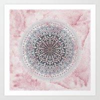 ICELAND MANDALA IN PINK Art Print