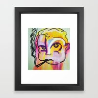 Never Trust A Smoking Ba… Framed Art Print